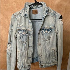 AE Distressed Denim Jacket